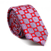 PAISLEY SKINNY TIE RED AND BLUE