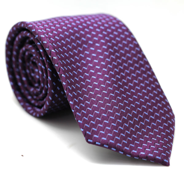 Zig Zag Regular Tie Purple with Light Blue