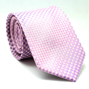 Regular Tie Purple with White