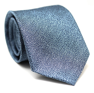PAISLEY DARK BLUE AND LIGHT BLUE SKINNY TIE