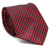Regular Tie Red with Black