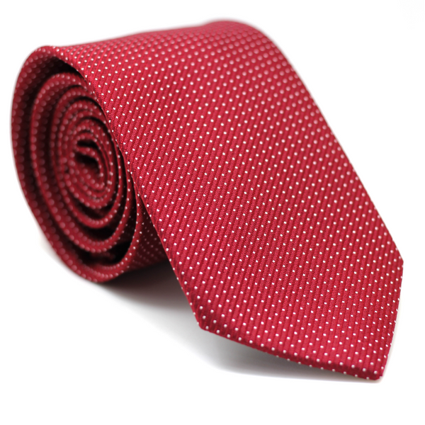 Polkadot Regular Tie Red with White