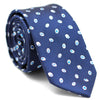 PAISLEY DARK BLUE AND WHITE SKINNY TIE