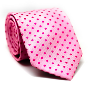 Regular Tie Light Pink with Polkadot Pink