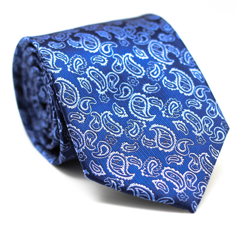 PAISLEY BLUE REGULAR TIE