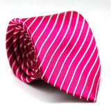 Stripe Regular Tie Pink with White Line