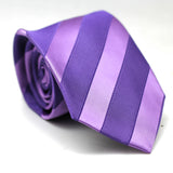 Stripe Regular Tie Shades of Purple