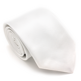REGULAR SILK COLOR TIE WHITE