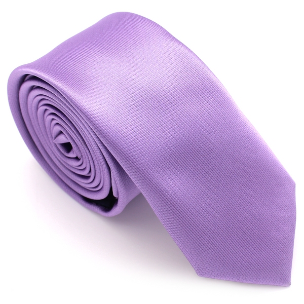 SKINNY SILK COLOR TIE PURPLE