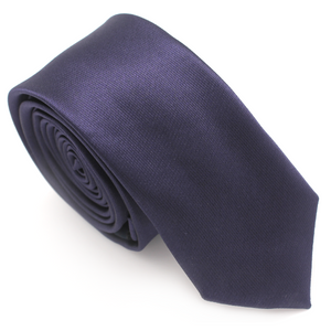 SKINNY SILK COLOR TIE PURPLE DARK