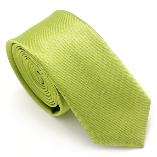 SKINNY SILK COLOR TIE GREEN