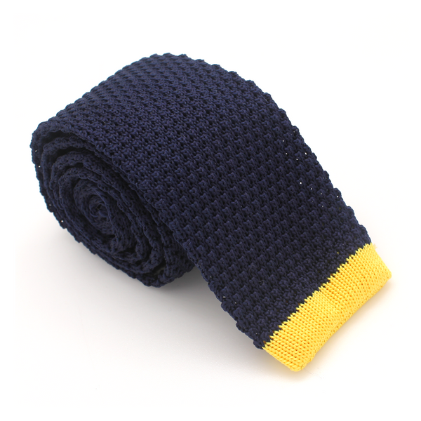 KNIT SKINNY BLUE WITH YELLOW STRIPE