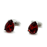 Swarovski Pear Cut Ruby Cufflinks