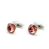 Swarovski Cushion Cut Blush Rose Cufflinks