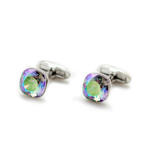 Swarovski Cushion Cut Crystal Shadow Cufflinks
