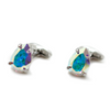 Swarovski Pear Cut Crystal Sparkle Cufflinks