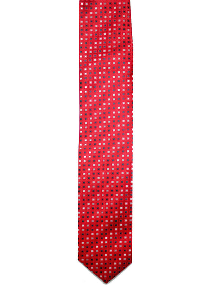 TINY DOT RED TIE