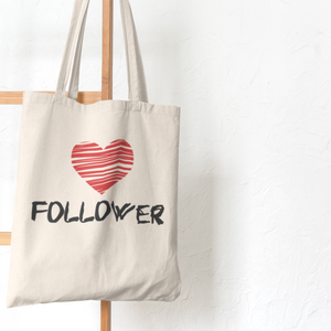 Heart Follower Tote Bag (Cotton Canvas)