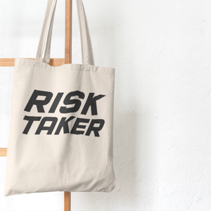 Risk Taker Tote Bag (Cotton Canvas)