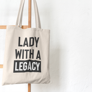 Lady With a Legacy Tote Bag (Cotton Canvas)