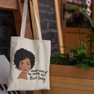 Glass Ceiling? No Thank You. #1 Tote Bag (Cotton Canvas)