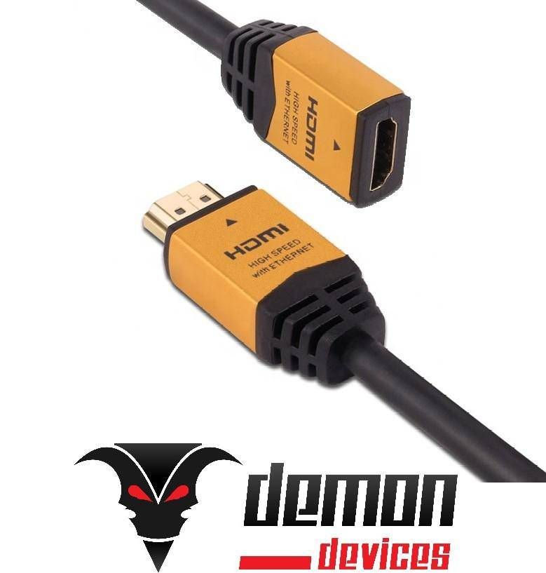 4K HDMI Gold plated male to female extension cable - DemonDevices
