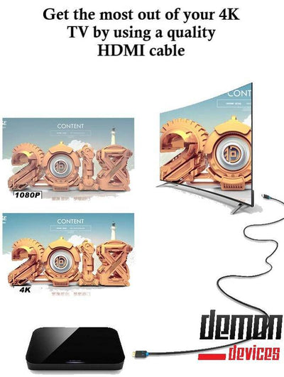 Demon-Devices high speed 3D 4K GOLD HDMI cable 5ft for Computer TV PS4 - DemonDevices