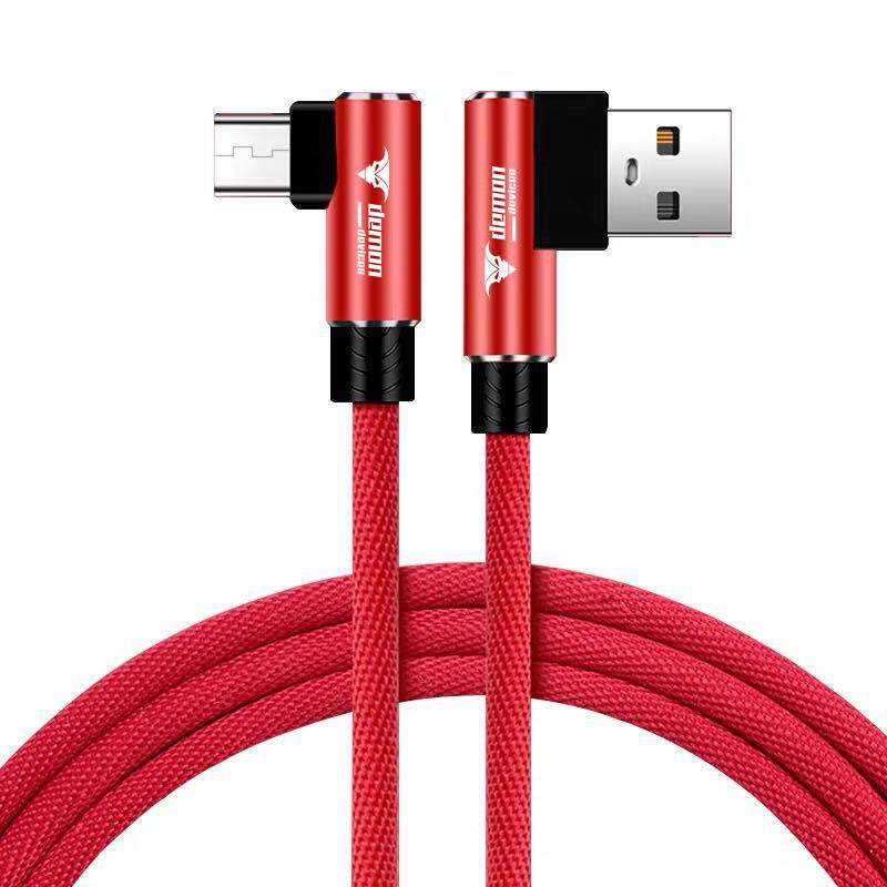 2.1A Fast Charging USB Cable Compatible with Iproduct 11 Pro Max XS Max XR X 8 7 6 5. 90 Degree Cloth Braided Data Cable - DemonDevices
