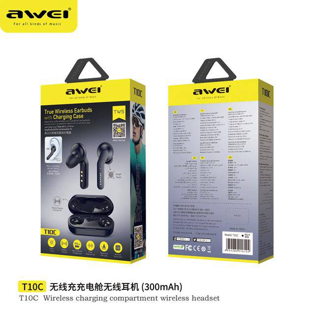 Awesome New Arrival T10C Bluetooth earbuds tws True wireless bluetooth headset - DemonDevices