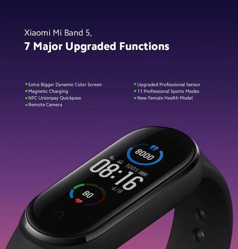 Global Version 2020 New Xiaomi Mi band 5 Smart Watch Bracelet 1.2 inch Color Screen Wristband Mi Band 5 - DemonDevices