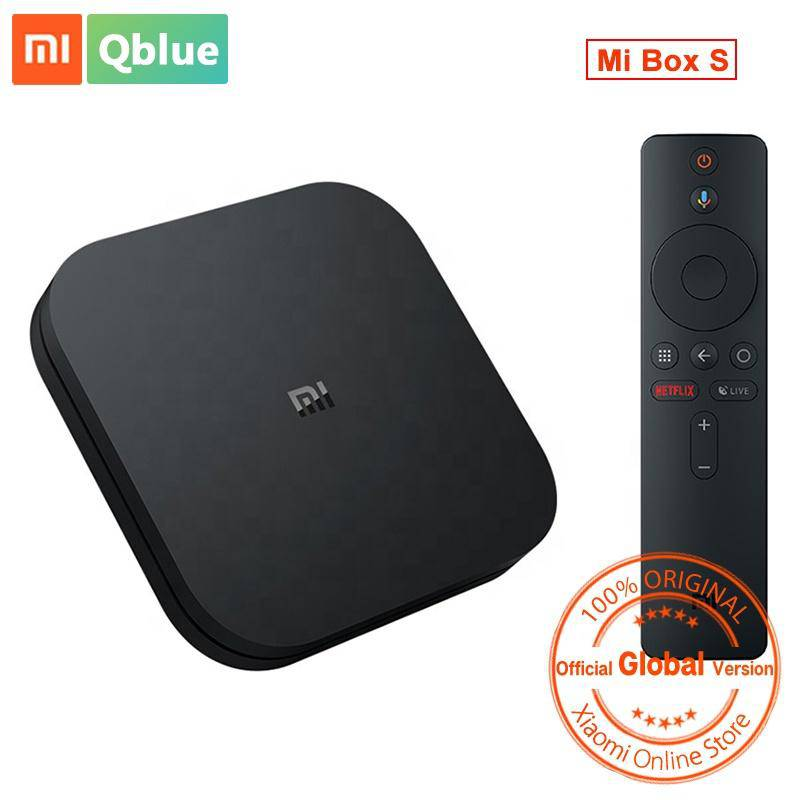 Stock Xiaomi Mi Box S Streaming Media Player Home 4K HDR Android TV Google Assistant - DemonDevices