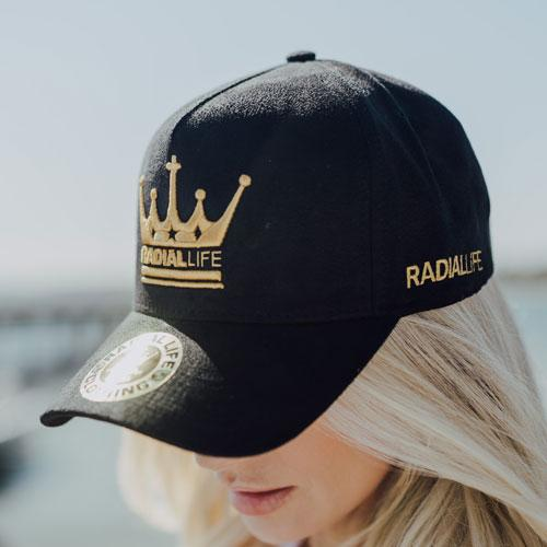 Crown Suede Strap Back Black
