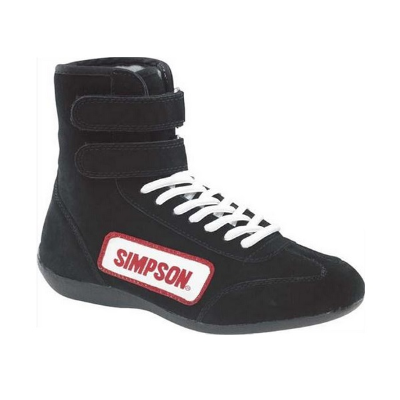 Simpson - High Top Driving Shoe Size 9 Black, SFI Approved