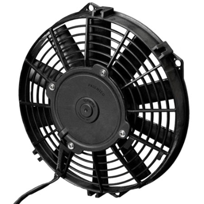 "Spal - 9"" Electric Thermo Fan 673 cfm - Pusher Type With Straight Blades"