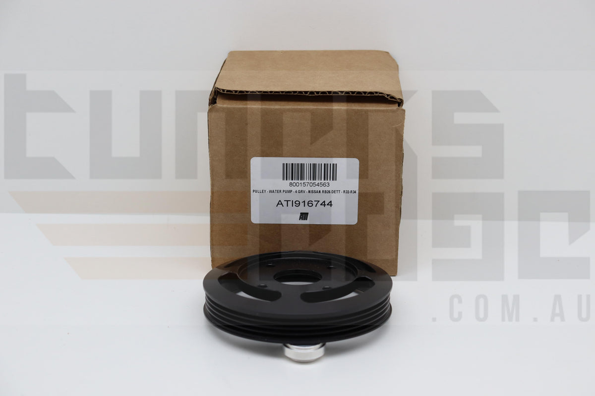 ATI Super Damper - Water Pump Pulley Nissan R32/R34 RB26DETT 4 Groove Serpentine ATI916744