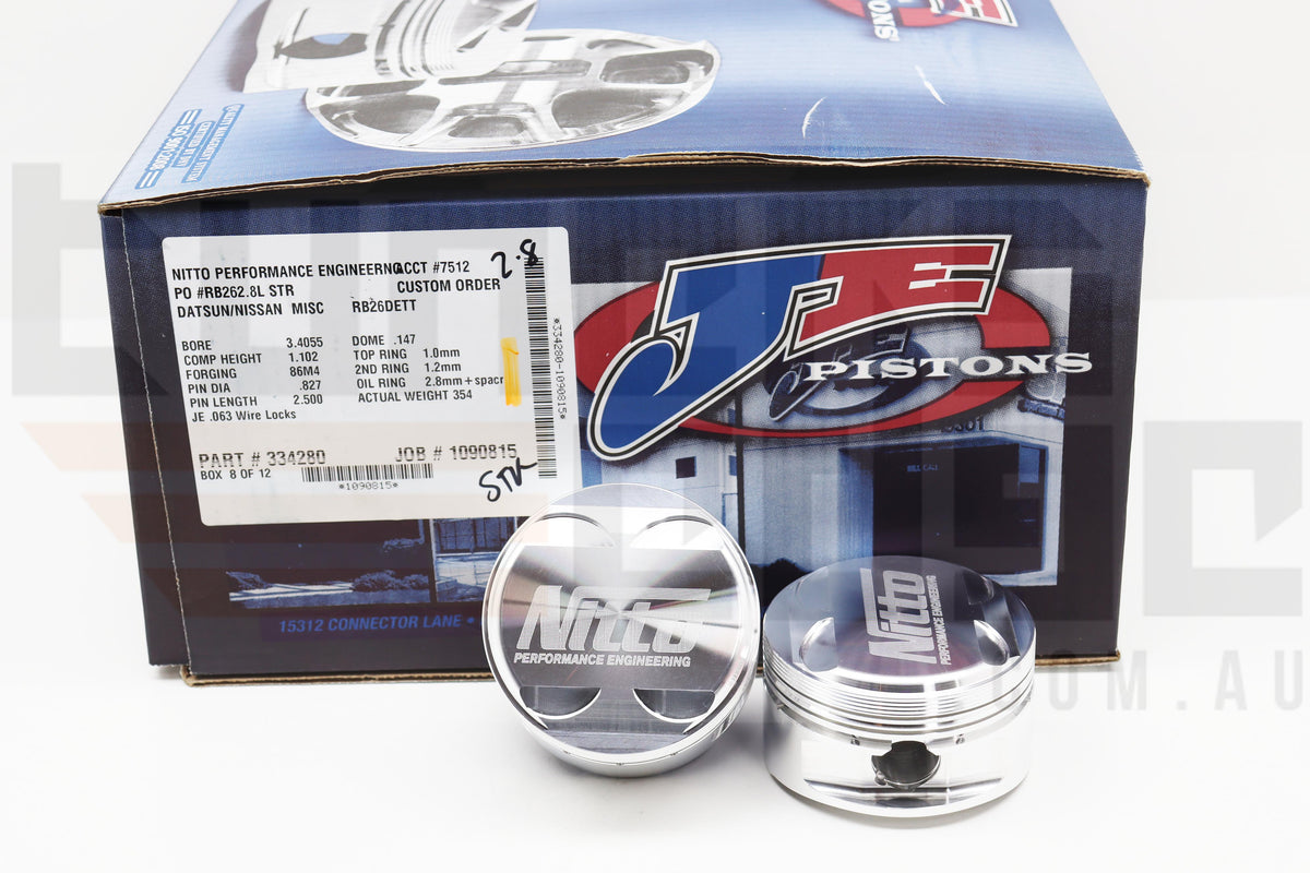 Nitto - JE RB26 for RB28 Stroker 86.5 Pistions