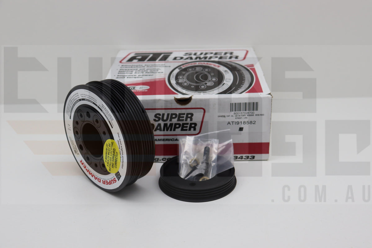 ATI Super Damper SFI Approved Nissan SR20DET RWD, 4 & 5 Groove With P/S Pulley 11% U/D