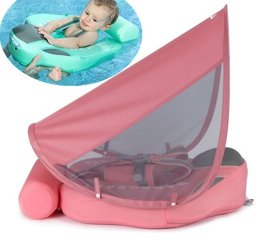 Baby Infant Non-Inflatable Float Lying Swimming Ring