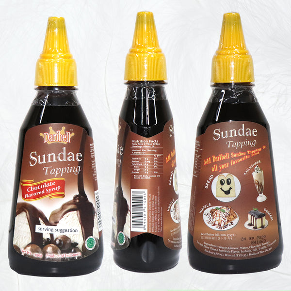 350g Daribell Chocolate Syrup Topping