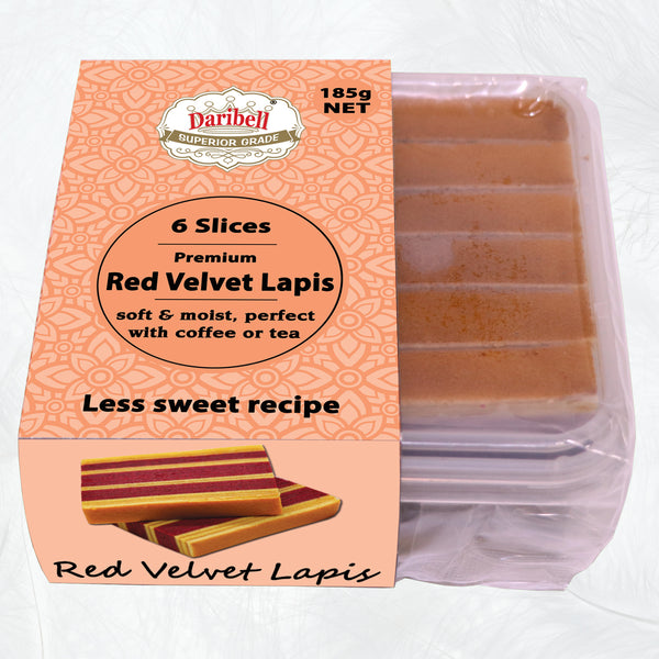 185g Daribell Vacpack Superior Grade Kueh Lapis Red Velvet - Less sweet recipe