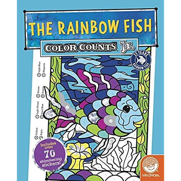 Color By Number Rainbow Fish