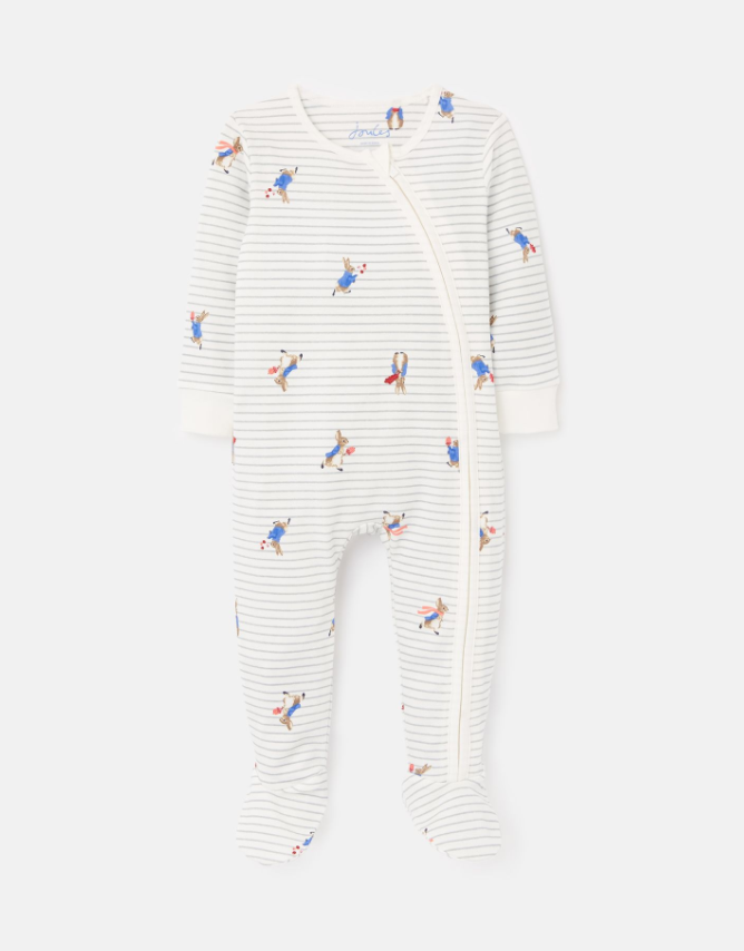 Striped Peter Rabbit Footie