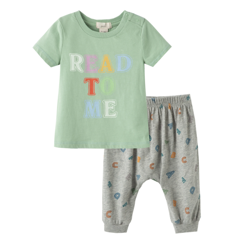 Read to Me Baby Pants Set