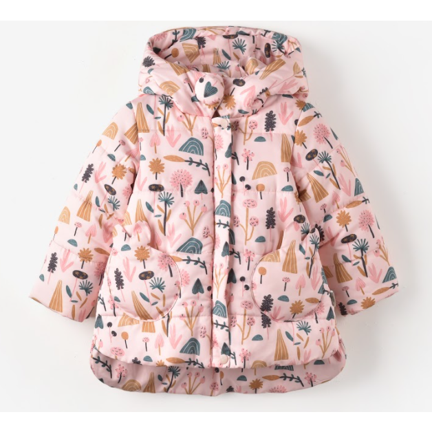 Pink Bloom Winter Coat