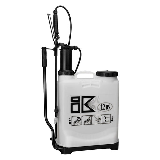 12 litre IK 12BS INDUSTRIAL backpack compression sprayer with AHL004 spray lance, viton seals.  WEIGHT: 3.4kg