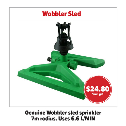WOBBLER SLED SPRINKLER. UP TO 7 METRE LOW PRESSURE  WATERING.