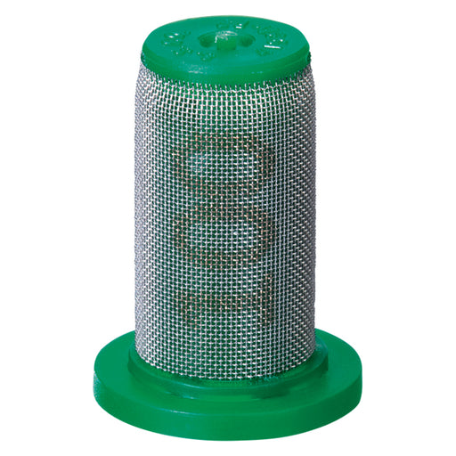 TEEJET TIP STRAINER - PP W/SS SCREEN 100 MESH GREEN