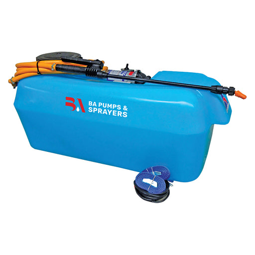 100 LITRE, 6.8L/MIN 12V 107PSI SHURFLO PUMP,WASHABLE SUCTION FILTERS,  6M HOSE AND TRIGERJET LANCE