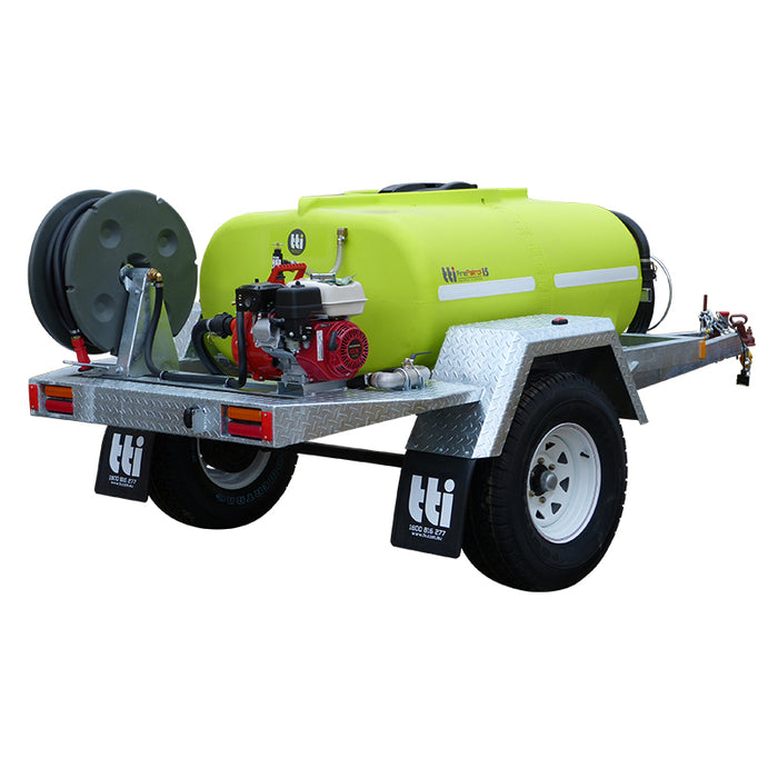 800 LITRE FIREPATROL15 REGISTERIABLE TRAILER WITH PUMP +EXTRAS. ***FREE FREIGHT***