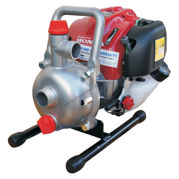 AUSSIE PUMP ULTRALITE. 4 STROKE 1HP. 120L/MIN. 57 PSI. 1'' INLET, 1'' OUTLET